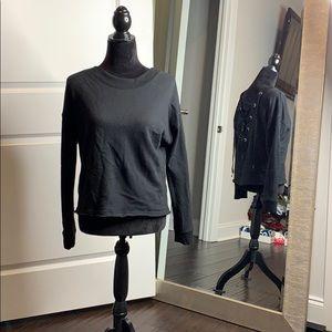 Lack lace up back sweatshirt